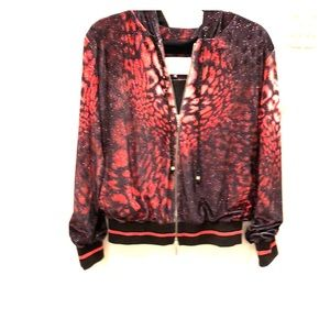 Balizza Red and Black Leopard Jacket